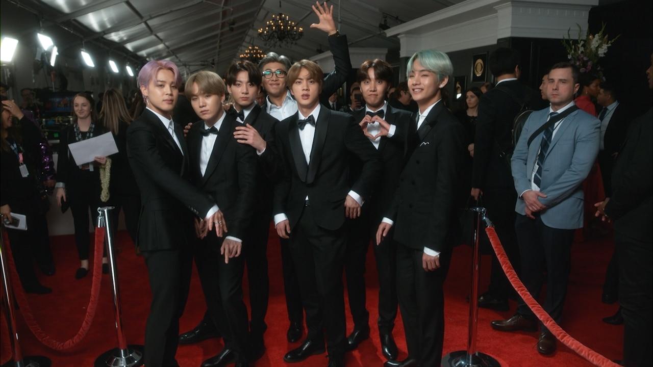 Grammy 2019 Bts: BTS - 2019 Grammy Awards Glambot