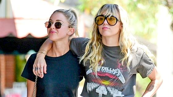 Miley Cyrus Kaitlynn Carter Show PDA Again in Matching Outfits