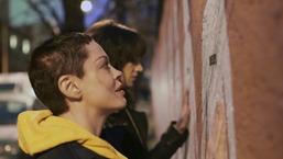 "Rose McGowan Visits ""Murale Contro Il Femminicidio"" in Italy"